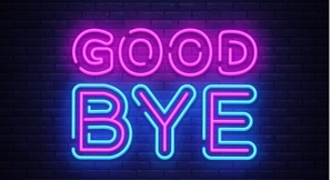 Good bye neon text design template good vector 22263165